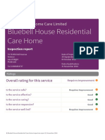 Bluebells Care Home Inspection Report