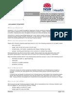 NSW Health Inflenza Check sheet