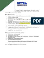 Job Description of OPTRA