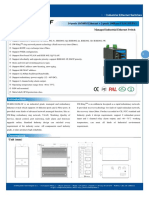 IT ES6116 IM 2F Datasheet - INDUSTRIAL ETHERNET MANAGED SWITCHES