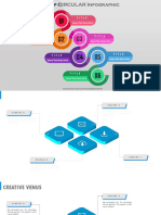 1.Create 6 Step CONNECTED CIRCLE Infographic