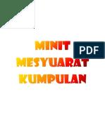 PSKT4 - Minit Mesyuarat Kumpulan
