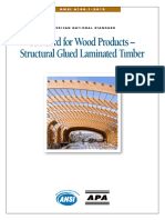 Standard for Wood Products Structural Glued Laminated Timber ANSI A190.1 2012