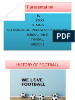 Football history 101
