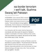 Sushma Swaraj on Terrorism