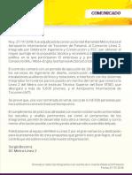 Comunicado Adjudicación Ramal ML2 PPT