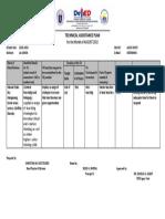 Technical Assistance Plan August