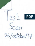 test scan