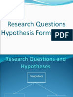 7. Research Questions and Hypotheses