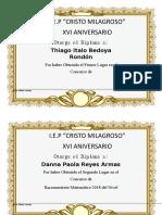 Diplomas de Inicial