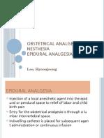 Ob Report. Epidural Analgesia