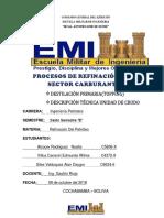 Refinación Del Petroleo SECTOR CARBURANTES