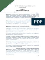 Proyecto Ley Org Para Personas Con Discapacidad Conapdisfmjgh 25112018