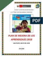 Plan de Mejora 2018