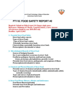 7 Food Safety FT116 Report Number 2