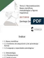 Tema 2. Neuroeducación. Bases científicas, metodologías y figuras lingüísticas