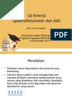 Uji Kinerja Spektrofotometer Dan AAS