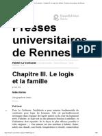 Habiter Le Corbusier - Chapitre III. Le Logis Et La Famille - Presses Universitaires de Rennes