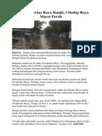 Jalan Swadarma Raya Banjir