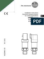 Sensor de Pressão Ifm 80229960UK