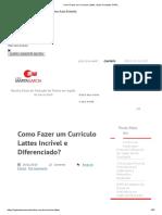 Como Fazer Um Currículo Lattes _ Guia Completo CNPq