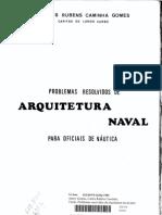 PROBLEMAS RESOLVIDOS DE ARQUITETURA NAVAL PARA OFICIAIS DE NÁUTICA COMTE. CAMINHA - 260 F.pdf