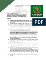 AMISOM Trains Somalia's South West State Finance Executives on Strategic Fiscal Management