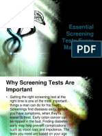 Essential Screening Tests Every Man Needs