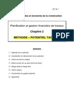 Cours2 Methode Des Potentiels Planning Preparation Chantier