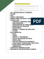 Checklist Documentos Parada