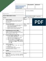 Supplier Quality Evaluation Quest