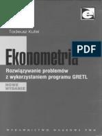 Tadeusz Kufel. Ekonometria. Rozwiązywanie problemów z wykorzystaniem programu GRETL.pdf
