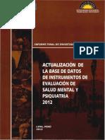 Instrumentos Validados en Perú (2012)