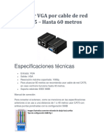 VGA UTP 60 MTS