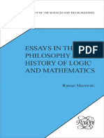 (Poznan Studies in the Philosophy of the Sciences & the Humanities) Roman Murawski, Jan Wole Ski-Essays in the Philosophy and History of Logic and Mathematics-Rodopi (2010)