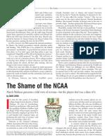 the shame of ncaa