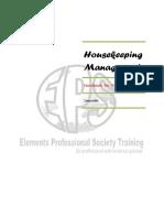 Housekeeping Department Handbook