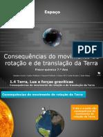 Consequências Do Movimento de Rotação e de Translação Da Terra