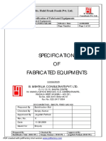 Specification of Fabricated Equipments Rev1