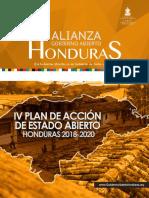 IV Plan de Accion de Estado Abierto Honduras 2018-2020