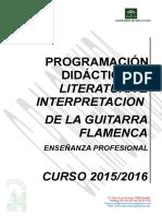 Programacion Didactica Literatura e Interpretacion Del Instrumento Curso 2015-16