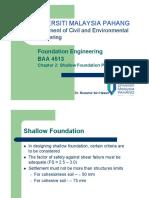 Baa 4513 Shallow Foundation Part 2 3 Dr Muzamirx [Compatibility Mode]
