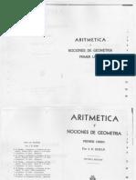 Aritmética y nociones de Geometría. Primer Libro_José E. Rozán