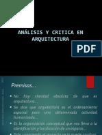 Analisi y Critica en La Arquitectura