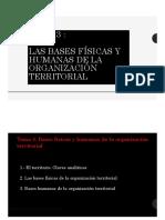 3- Las Bases Físicas y Humanas de La Organización Territorial