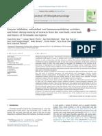Enzyme Inhibition Antioxidant and Immunomodulatory Activiti 2014 Journal Of