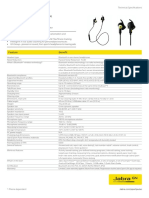 Jabra Sport Pulse SE Techsheet