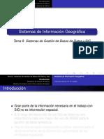 BDSpatial 02 Sistema Gestion BD y GIS