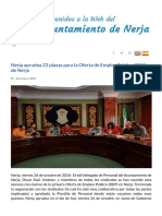 Nerja Aprueba 22 Plazas Para La Oferta de Empleo Público 2018 de Nerja _ Ayuntamiento de Nerja