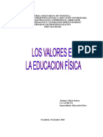 Ensayo de Valores en La Educacion Fisica